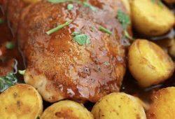 Roast Chicken and Potatoes in Gravy