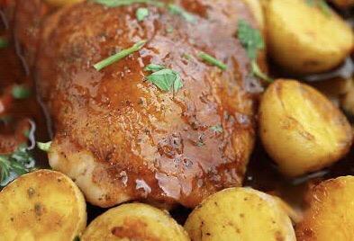 Roast Chicken w Gravy and Potatoes