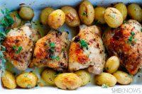 Chicken & Tarragon w Roast Potatoes