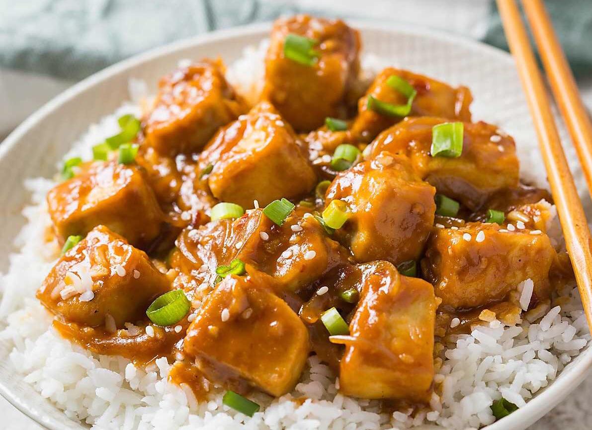 Chilli Tofu w Rice