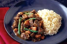 Mongolian Lamb Stew w Rice